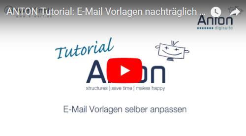 Emailvorlagen einrichten