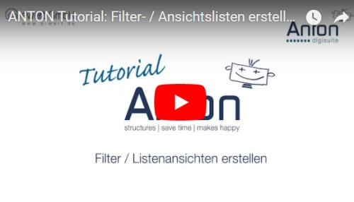 Filteransichten / Ansichtslisten erstellen