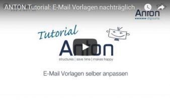 E-Mail Vorlagen ändern
