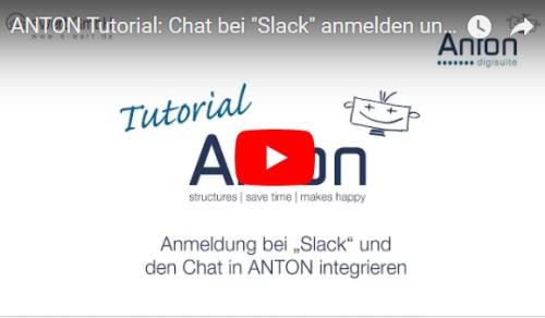 Slack anmelden und in ANTON integrieren