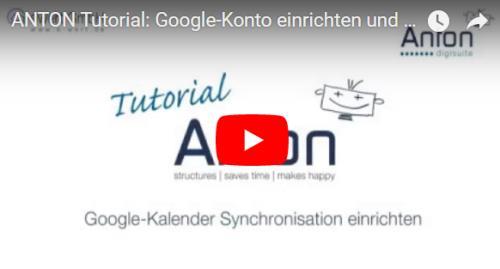 Google Kalender mit ANTON synchronisieren