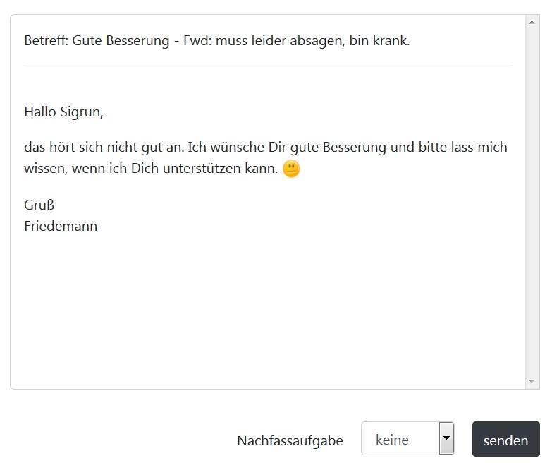 E-Mailvorlage gute Besserung