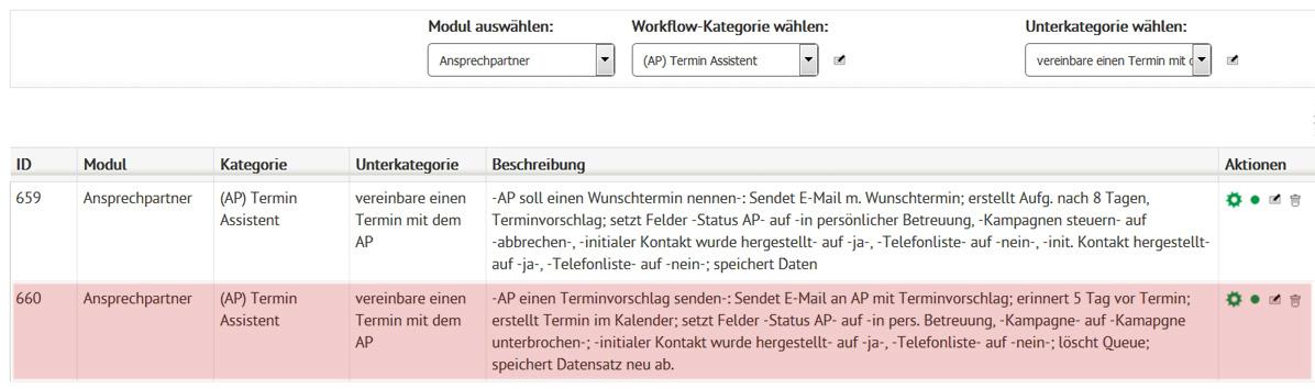 Workflow Terminvorschlag senden