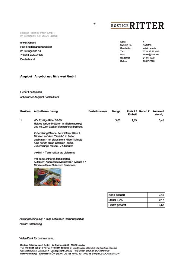 Angebot PDF