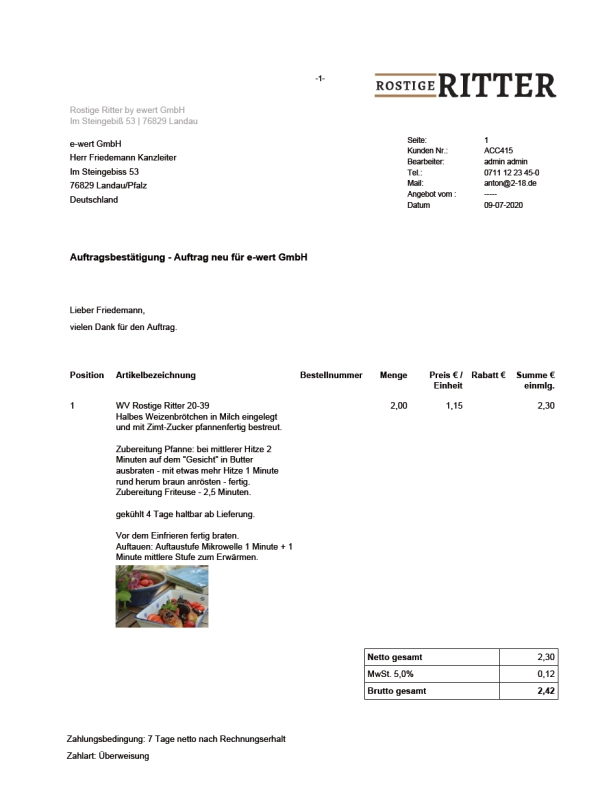 Auftrag PDF