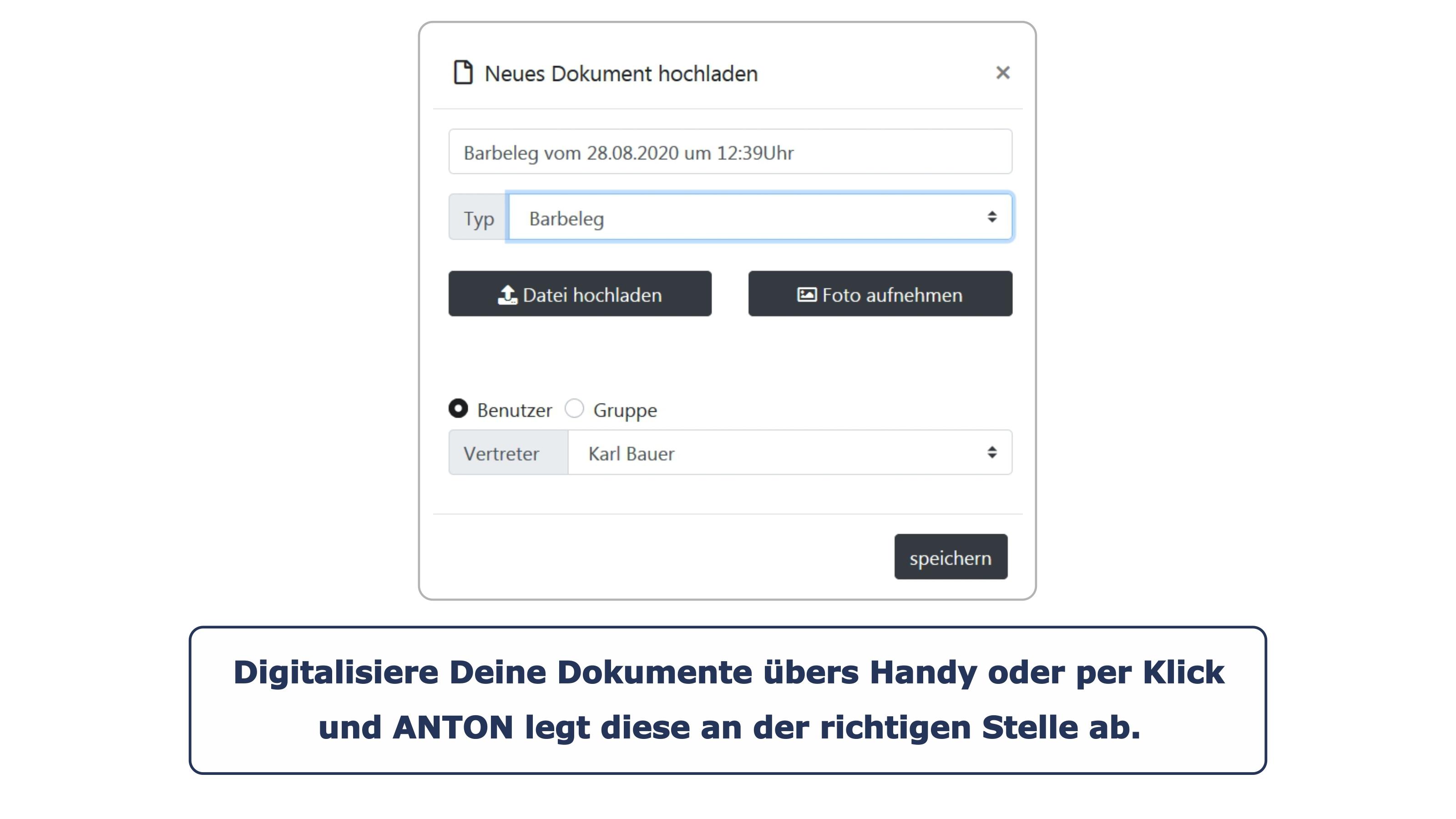 Unternehmensgründung Projekte Dokumente hochladen
