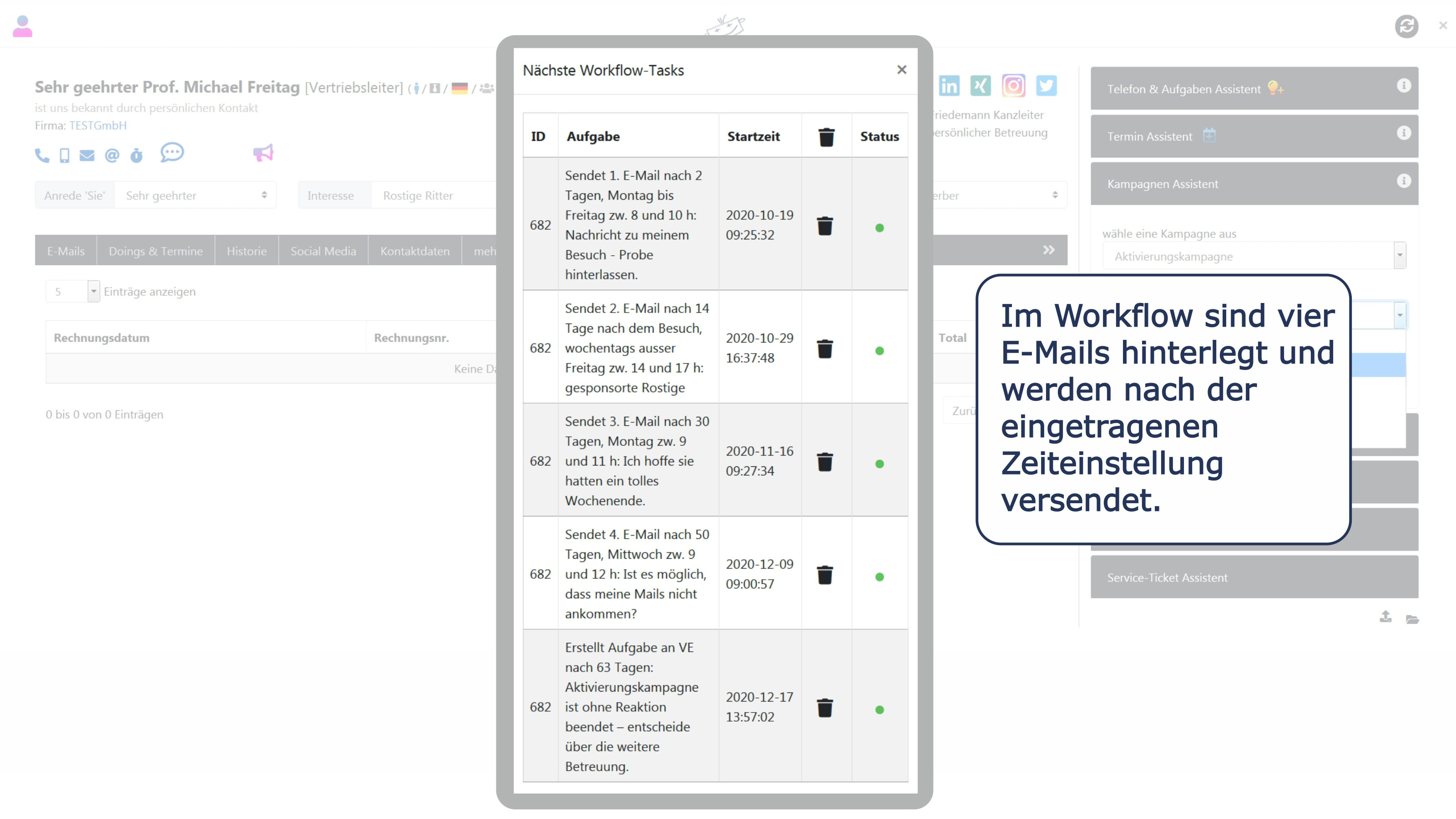 AK-Kampagne Workflows