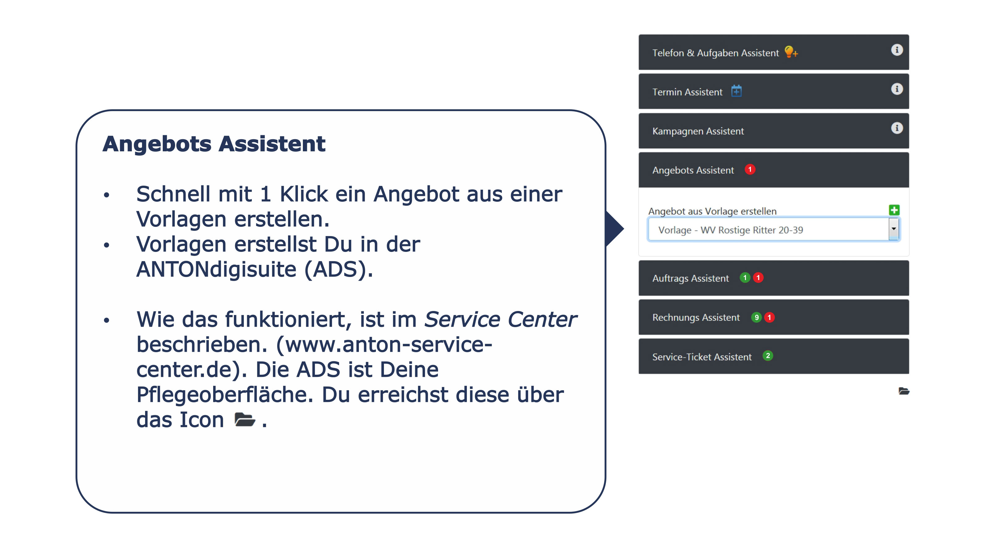 Ansprechpartner Detail Angebots Assistent