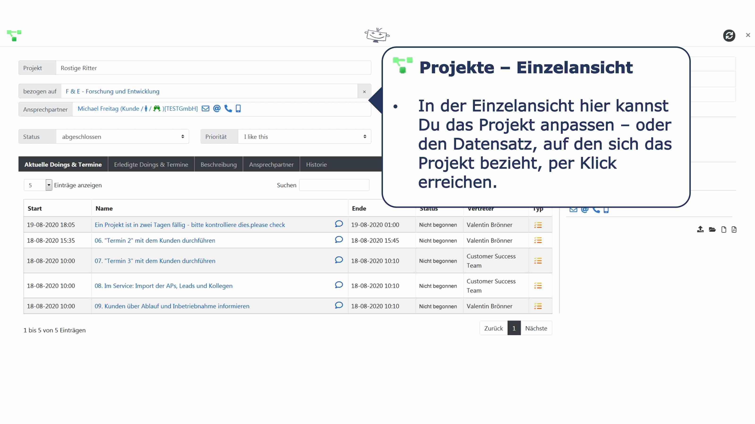 Projekte Details