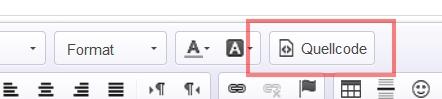 Quellcode Button im Editor