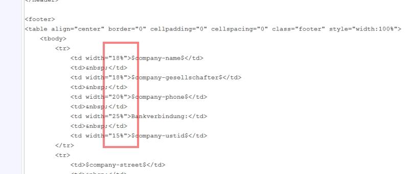 Quellcode Block anpassen