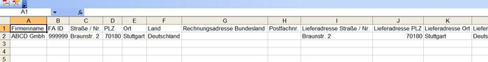Geöffnete CSV Datein in Excel