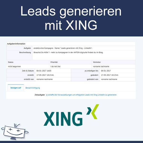 Leads generieren mit XING