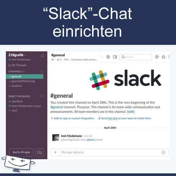 Slack Chat einrichten