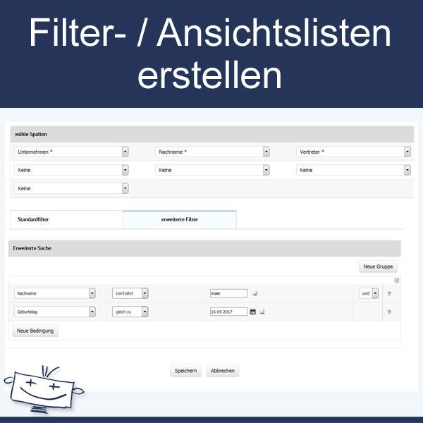 Filter erstellen