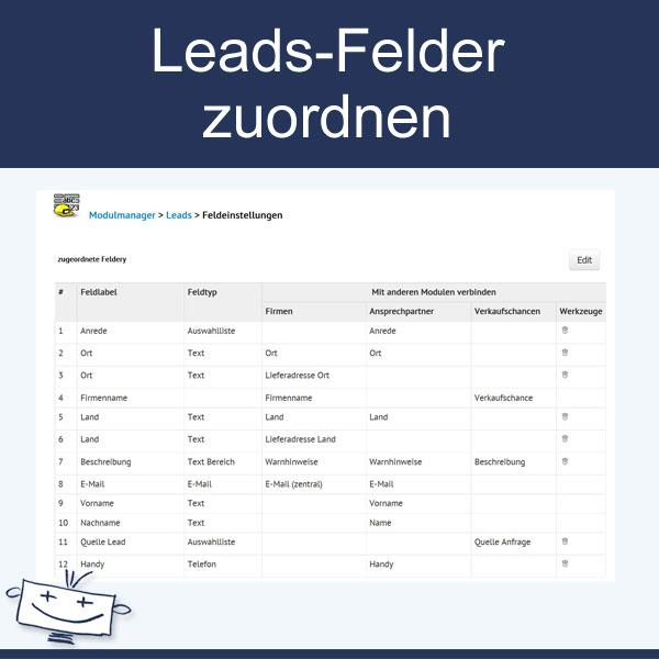 Leads-Felder selbst zuordnen