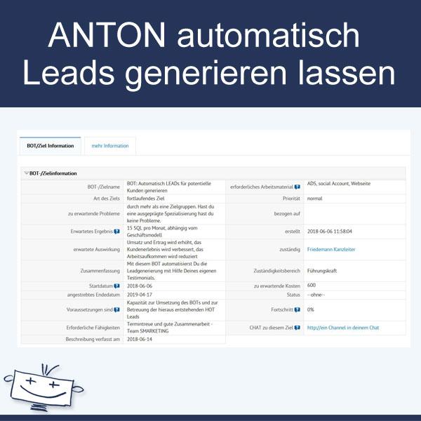 ANTON automatisch Leads generieren